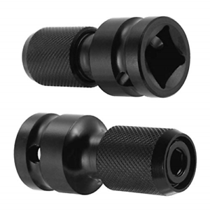 """1//2/'/' Square to 1//4/'/' Adapter 1//2/""""Drive to1//4/""""Hex Shank Socket Converter Black~"""