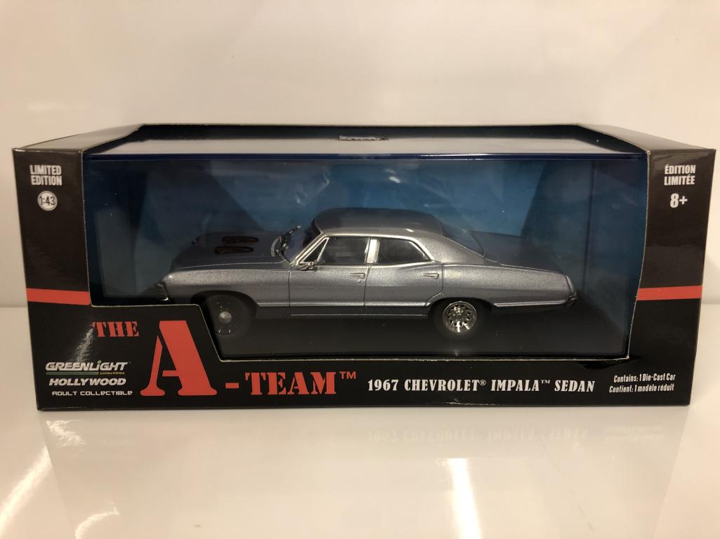 Le A Équipe 1967 Chevrolet Impala Berline 1 43 Echelle vertlight 86527