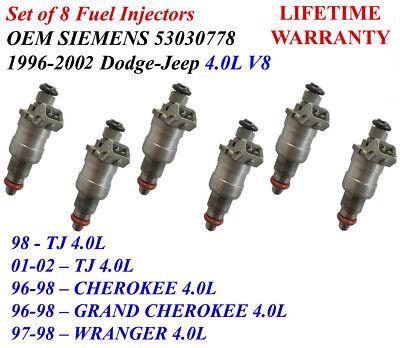 Genuine Siemens Deka Fuel Injector Set of 6-53030778 Lifetime Warranty