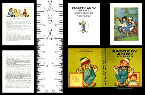 1:6 SCALE MINIATURE BOOK RAGGEDY ANDY STORIES MODIFIED BARBIE PLAYSCALE