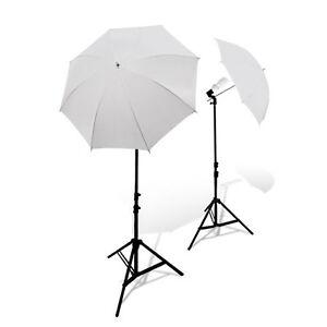 "Photography Studio 2x 45W Bulbs Light Stand 33"" White Soft Umbrella Lighting Kit"