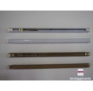 Bacchette Tende A Molla.Bacchetta Tende A Molla Varie Misure Per Vetro Bianco Bronzo
