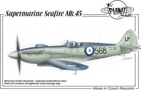 Avion embarqué SUPERMARINE SEAFIRE Mk. 45 - Kit résine PLANET MODELS 1 48 N° 134