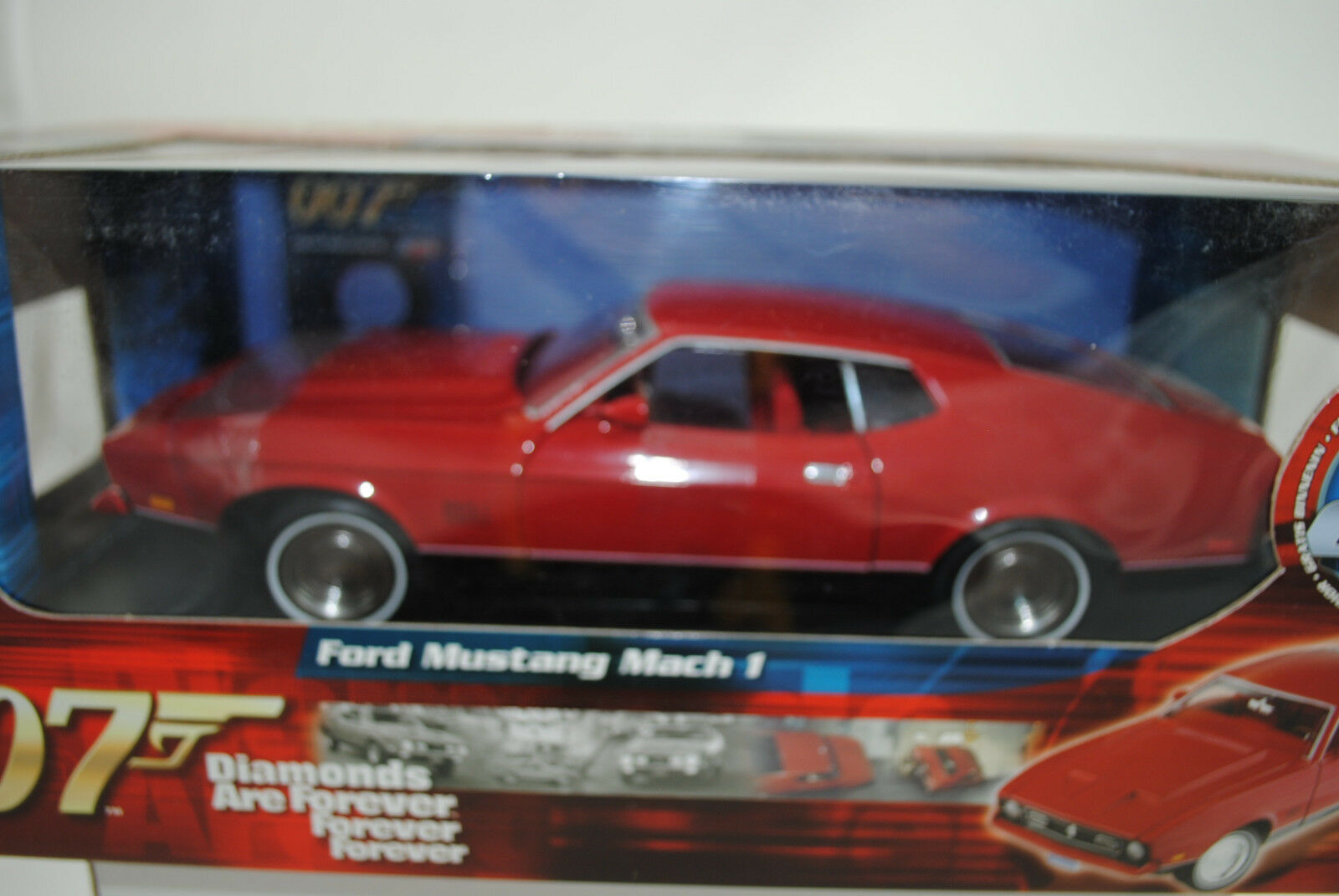 1 18 Ertl Ford Ford Ford Mustang Mach 1 James Bond 007 Diamonds are Forever Neu OVP 5a4b10