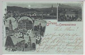 Mondscheinkarte Litho 1898 Kunden Zuerst Ak Gruss Aus Offenburg 115066
