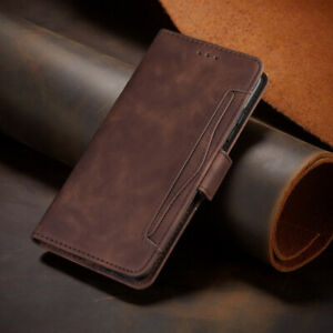 For Moto E6 G8 G Stylus One Vision Magnetic Leather Flip Card Wallet Case Cover