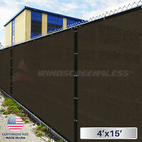 4'x15' Green/black/beige Fence Privacy Wind Screen W/grommets Cover Mesh Shade