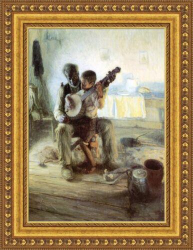 """Henry Ossawa Tanner The Banjo Lesson Framed Canvas Print 20.5/""""x27/"""" V11-20"""