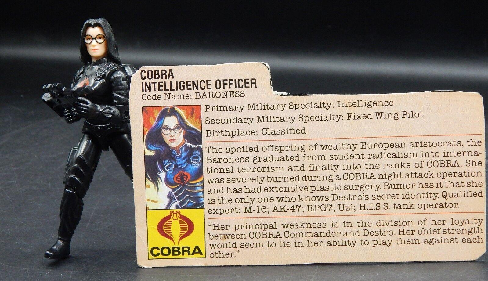 1983 Hasbro GI Joe BARONESS action figure COMPLETE G.I. vintage ARAH toy