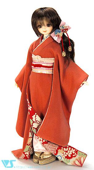 VOLKS HTDP Kyoto 9 Super Dollfie Naranja Rojo Kimono Set tsutsuji Mini Super Dollfie SDC mdd