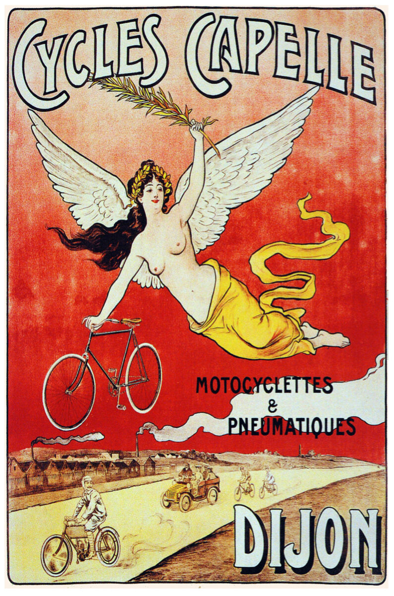 French Vintage Decoration Design Ad Poster print.Cycles Capelle.Wall Decor 816i