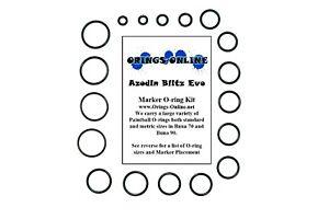 kits Azodin Blitz Evo Paintball Marker O-ring Oring Kit x 4 rebuilds