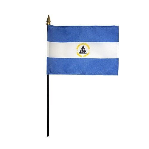"4/""x6/"" Nicaragua Miniature Desk /& Table Flags Flag"