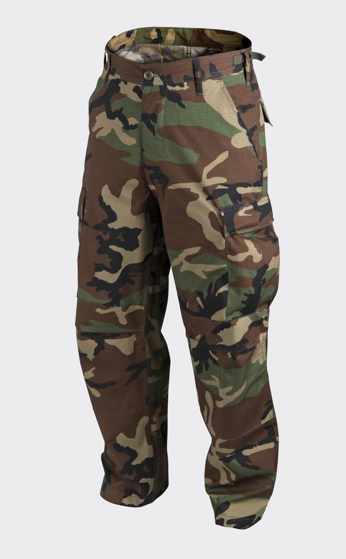 HELIKON TEX US BDU BDU BDU woodland camouflage Army Outdoor Hose Tarnhose SR Small Regul 974c3c