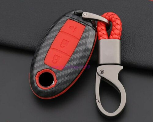 Carbon fiber Exterior key holder cover Trim For Nissan Teana Altima 2013-2019