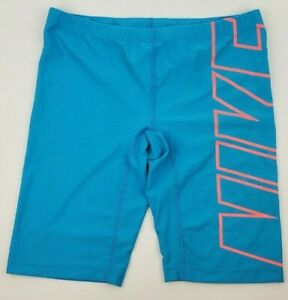 Nike-Performance-Mens-PolyBlend-Logo-Jammer-Swimsuit-36-Teal-Free-Shipping