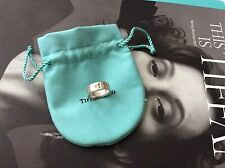 Authentic Tiffany & Co 925 Diamonds Keyhole Locks Ring 5