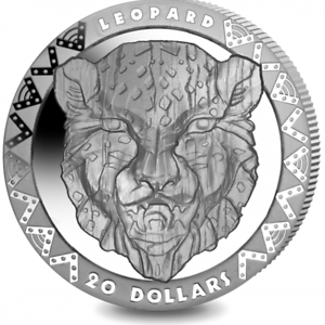 2019 $20 Sierra Leone Big 5 2 oz Silver High Relief Leopard 500 made!