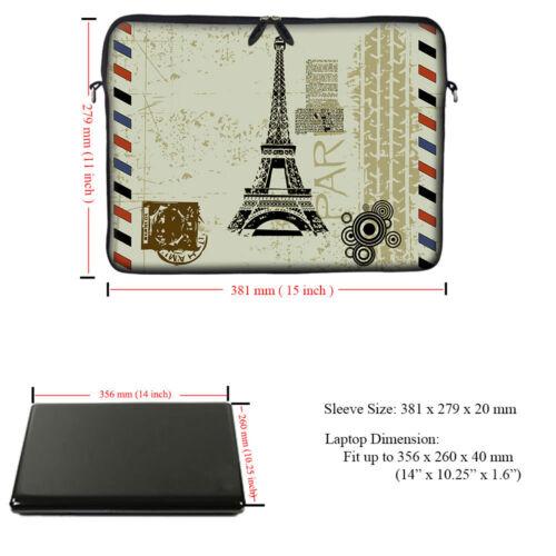 """14/"""" Neoprene Laptop Computer Sleeve Case Bag w Hidden Handle 2907"""