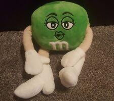 """M&M Green 19"""" Ms. Large Stuffed Plush Kissing Face"""