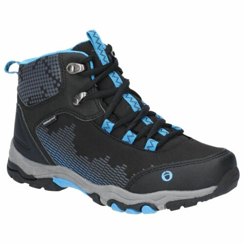 Cotswold Ducklington Lace Black//Blue Childrens Hiking Boots Textile+Synthetic