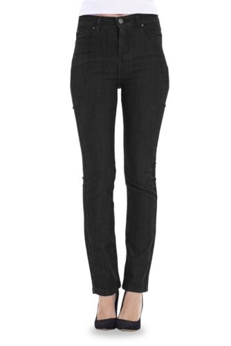 Ladies Straight Leg Jeans Indigo Womens Plus Size Black Denim Pants