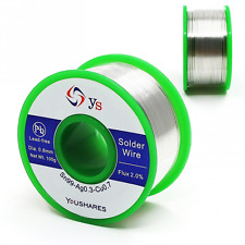 YOUSHARES 0.8mm Lead Free Solder Wire with Rosin Core for Electrical Repair flux