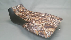 Polaris Sportsman 600 Seat Cover 2005 2-TONE FLOODED TIMBER & BLACK (front)