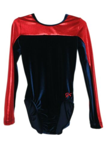 AXS Adult Extra Small 3960 GK Elite Red Mystique Velvet Gymnastics Leotard