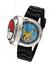Modèle: POK902 Homme Pokemon QUARTZ métal et silicone Casual Watch couleur NOIR