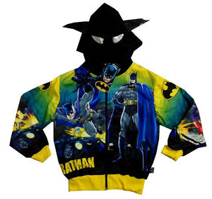 BATMAN boys vibrant hooded sweatshirt jacket Size S-XL Age 6-13 years