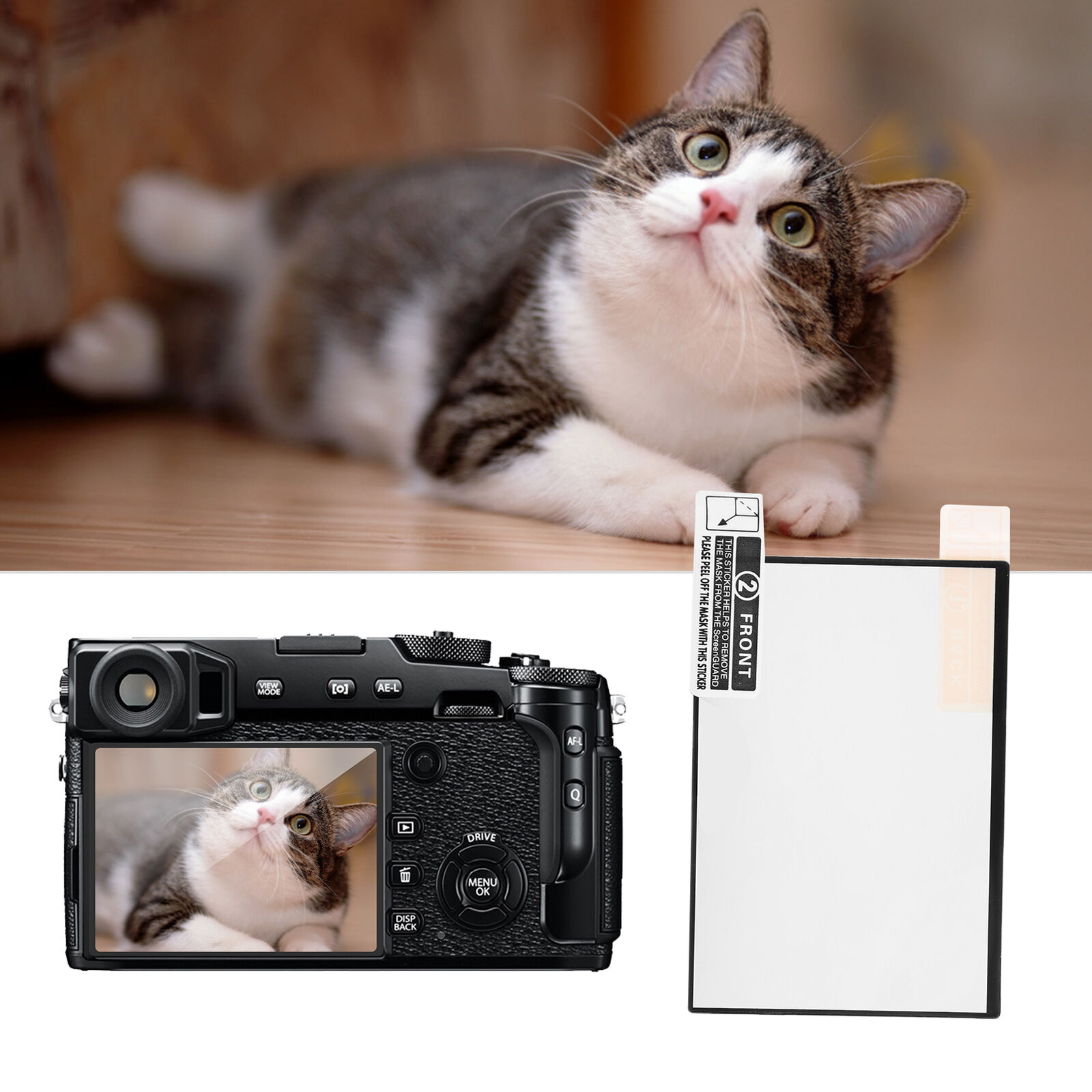LCD Screen SLR Pad Tempered Film Protection Screen 0.3mm for Fuji X‑PRO2 Camera