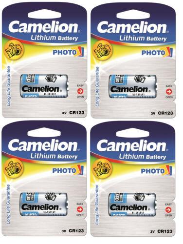 4x Camelion CR123A Photo Spezial Batterie Foto Lithium DL123A ELCR123AP CR123