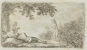 Chodowiecki (1726-1801). la calma rurale al tramonto; pressione grafico 2