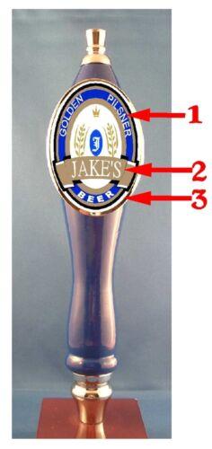 Custom Personalized  Beer Tap Handle knob tapper Kegerator Man Cave Sign