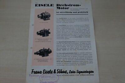 Original 198025 Prospekt 06/1949 Jauchepumpe Eisele