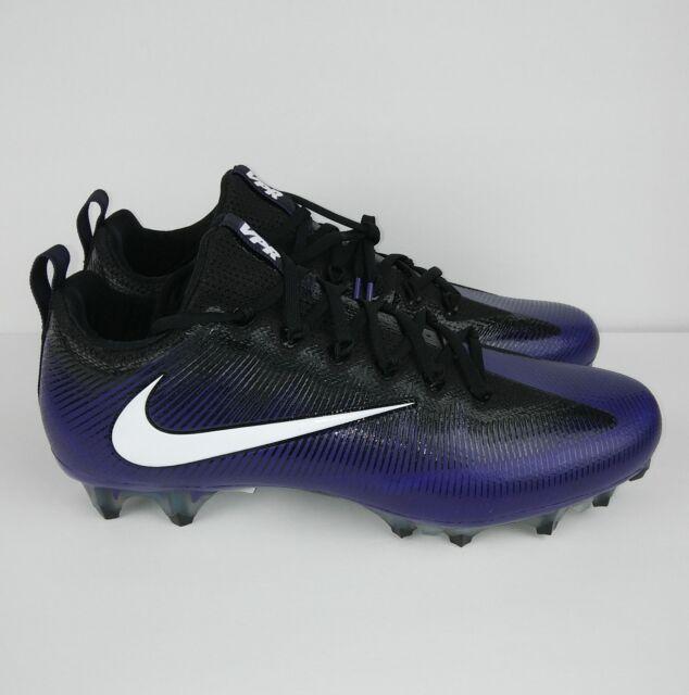 8ac6f266a57c NIKE Vapor Untouchable Pro Football Cleats White Black Purple Men's Size  11.5