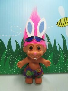 Russ Troll Doll EASTER EGG WITH ATTACHED MINIATURE BUNNY NEW