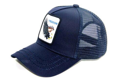 FREEDOM EAGLE MESH BACK TRUCKER HAT BASEBALL SNAPBACK CAP ONE SIZE FITS ALL