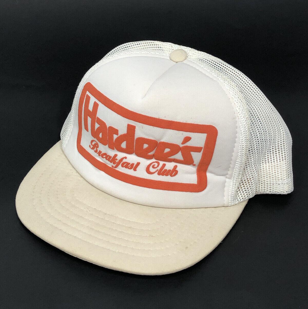 Vintage Trucker Hat Hardees Breakfast Club Mesh snapback cap Food Uniform YY