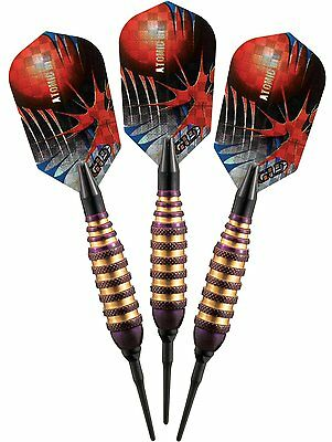 Viper Atomic Bee 16g Purple Brass Soft Tip Dart Set 20-1353-16 tip shaft flights