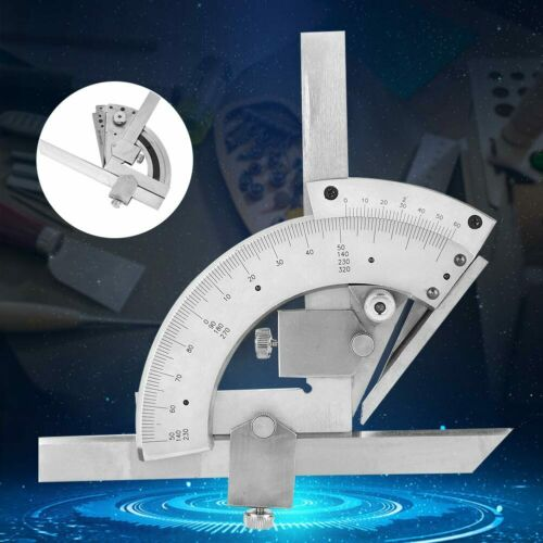 Stainless Steel Protractor Ruler Angle Finder 0-320 Degree Rotary Measuring Tool