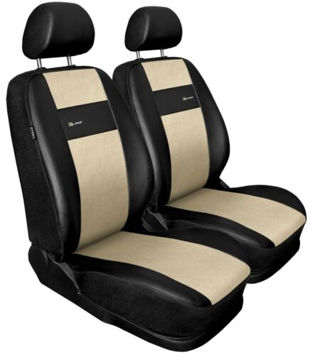 Front seat covers fit Volkswagen Caddy black//beige  Leatherette