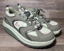 Sketchers Women's Sz 9.5 Shape Ups Gray Pink 11806 Toning Walking Athletic Shoes