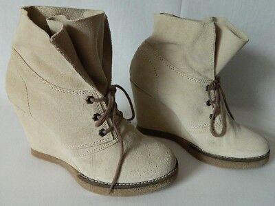 JONAK boots bottes bottines lacets cuir DAIM souple