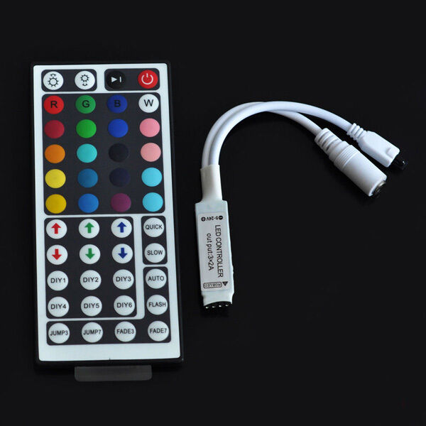 For 3528 5050 RGB LED Strip Light Mini 3/24/44 Key RF Remote Wireless Controller