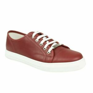 Details About Nib Gucci Red Leather Lace Up Sneakers Shoes 8595