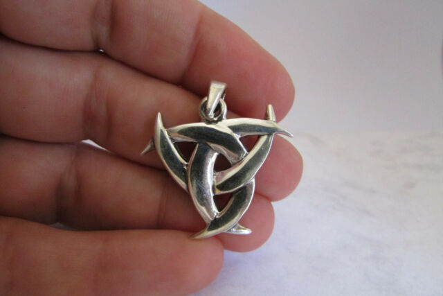 Celtic Knot Pendant Sterling Silver Irish Charm Wiccan Jewelry Beading Supplies