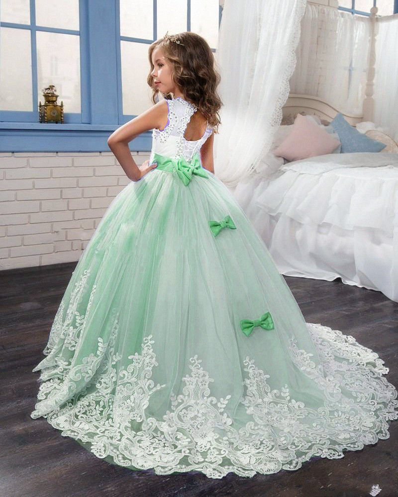 Formal Kids Flower Girl Dresses For Wedding Cute Princess Party Prom ...