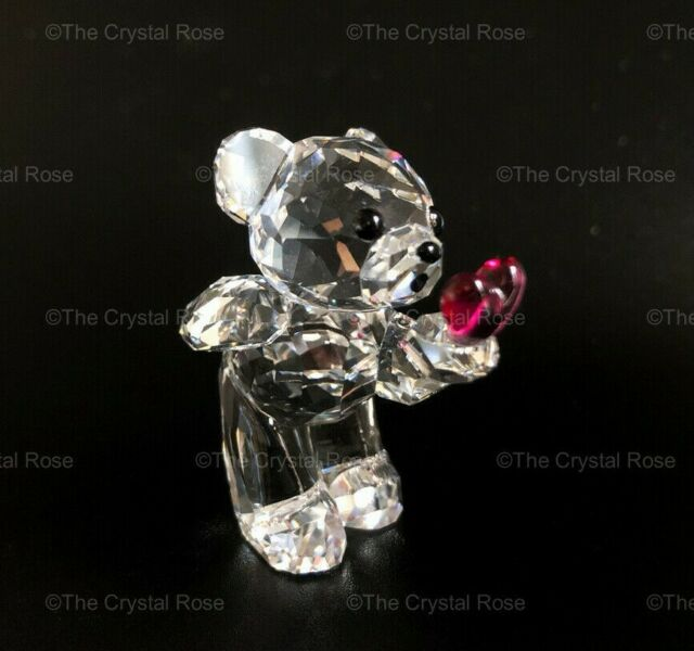RARE Retired Swarovski Crystal Kris Bear Blowing Kisses 1016623 Mint Boxed